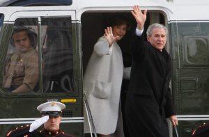 Obama Inauguration -- the Bush's leaving