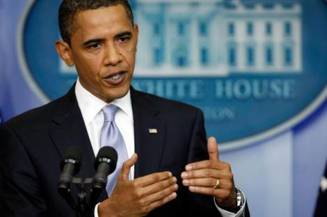 Obama Holds News Conference In The Brady Press Briefing Room