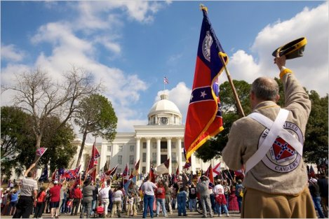 Sons of the Confederacy rally