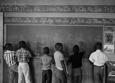 1966, Prairie Mission, Alabama, USA --- Segregated Classroom in Alabama --- Image by © Bob Adelman/Corbis