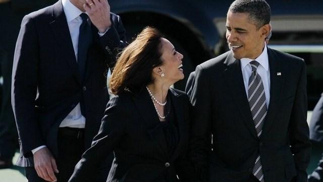 Barack Obama and Kamala Harris