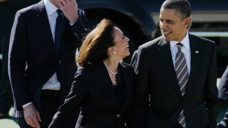Barack Obama and Kamala Harris