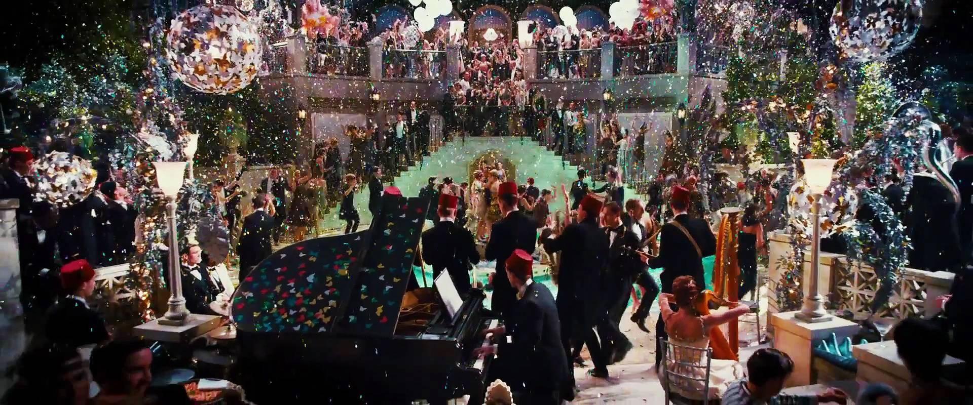 the great gatsby party scene Comment on the great gatsby: dance party movie the great gatsby scene dance party scene vote clip description jay gatsby (leonardo dicaprio) and daisy.