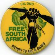 Free South Africa button