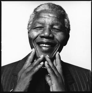 Nelson Mandela smiling