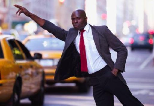 black man taxi