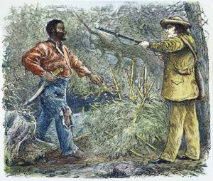 Nat Turner being captured.